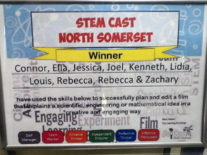 STEM Cast competition certificate