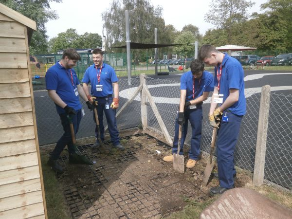 BHGE volunteers helped transform our grounds